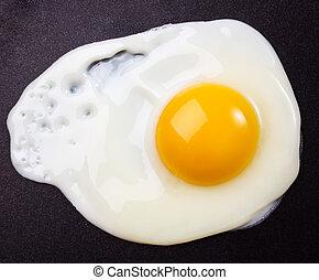 frito, huevo