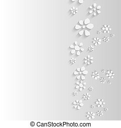gray background with flowers