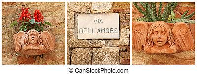 Love street ( Italian via dell amore ) collage