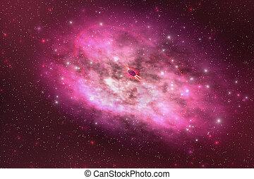 PLANETARY NEBULA - A huge nebula contains millions of stars...