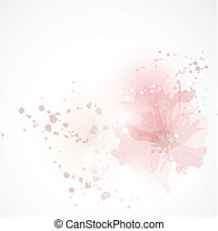 Bright background with tea-roses - Background with flowers.