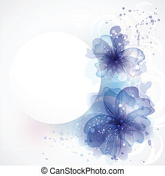 Card with flowers. Flower Background