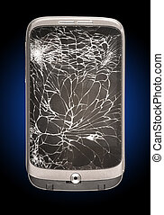 Broken Mobile Phone Cracked Screen - A Broken Mobile Phone...