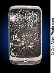 Broken Mobile Phone Cracked Screen - A Broken Mobile Phone...