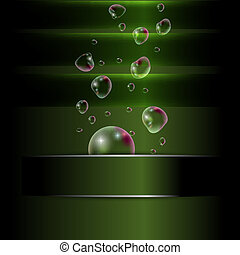 abstract background with bubble