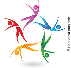 Couple dancing image icon company group background