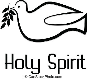 Vector of holy spirit symbol