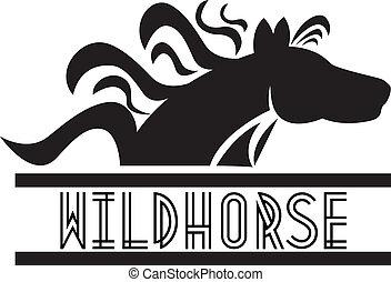 Horse logo - Wild horse icon vector