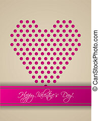 Valentine greeting card design with heart shape