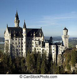 Neuschwanstein - The fairytale turrets of Neuschwanstein...