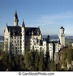 Neuschwanstein - The fairytale turrets of Neuschwanstein...