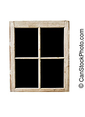 window frame - Old residential window frame isolated on...