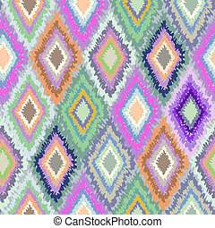 Colorful geometric print - seamless tie-dye background
