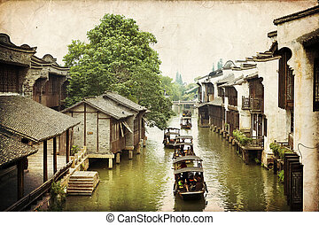 Wuzhen, China - The scenery of Wuzhen, one of the Chinese...