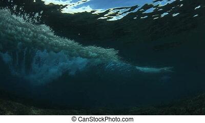 Underwater Tropical Blue Wave