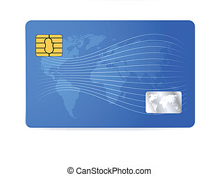 Credit or debit card design template Vector illustration