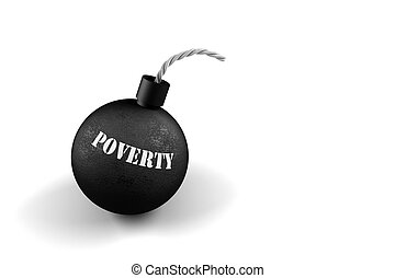 Poverty Time Bomb - Conceptual image about exploding poverty...
