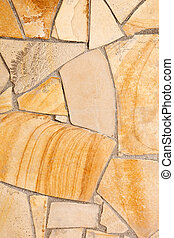 Wall lined with porphyry stones - Wall lined with light...