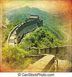 Great Wall of China - The beautiful view of the Great Wall...