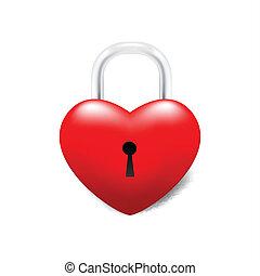Grossy Locked Heart - Isolated Locked Heart