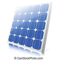 solar panel - Illustration of a solar panel on a white...