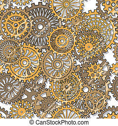 gear wheels - Seamless texture gear wheels Illuctration clip...