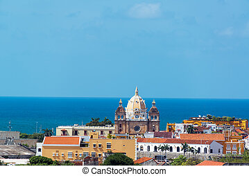 Cartagena, Colombia Old Town - Historic center of Cartagena,...