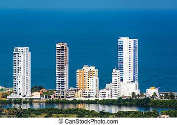 High Rise Apartments - High rise coastal apartment buildings...