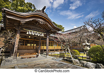 Japanese Shrine Building - Japanese shrine building in...