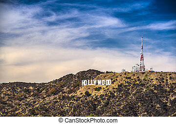 Hollywood Sign - Hollywood sign in Los Angeles, Clalifornia.