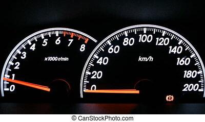 Dashboard in car