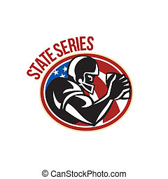 American Football State Series Ball - Illustration of an...