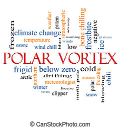 Polar Vortex Word Cloud Concept with great terms such as...