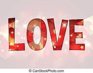 Love background - Decorative love background for Valentines...