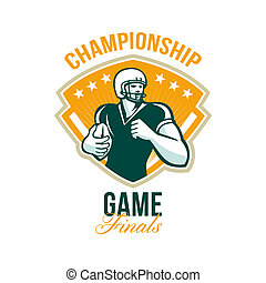 American Football Championship Game Finals Crest -...