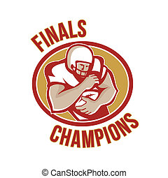 American Football Running Back Finals Champions -...