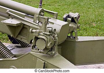 Canon Breech - Closeup of the breech on a canon large gun