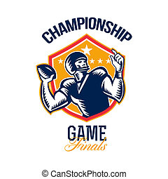 American Football Championship Game Finals Shield -...
