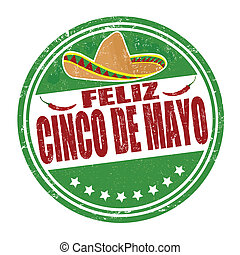 Feliz Cinco de Mayo stamp - Happy 5th of May in spanish...
