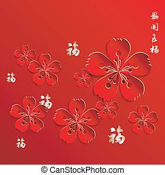 Chinese New Year Flower Background