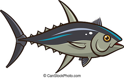 Tuna - Vector illustration of a Tuna isolated on a white...