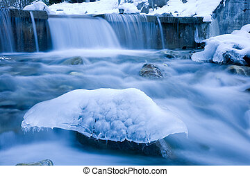 River mushroom - Naturally shaped ice sculpture in a...
