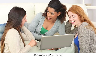 Cute women using tablet