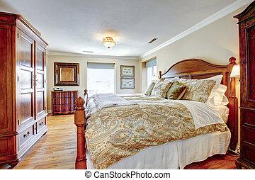 grande, rustico, ammobiliato, camera letto