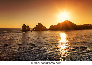 Cabo San Lucas, Mexico - Sunset over Cabo San Lucas
