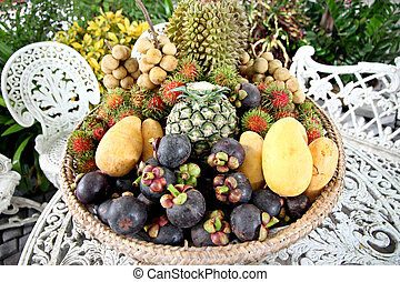 Many of fruits in the basket. - The Many of fruits in the...