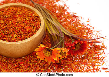 Safflower, False Saffron, Saffron Thistle Carthamus...