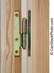 Door hinge of handmade wooden door