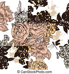 Beautiful seamless vector - Vintage vector seamless...