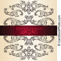 Elegant invitation card for design